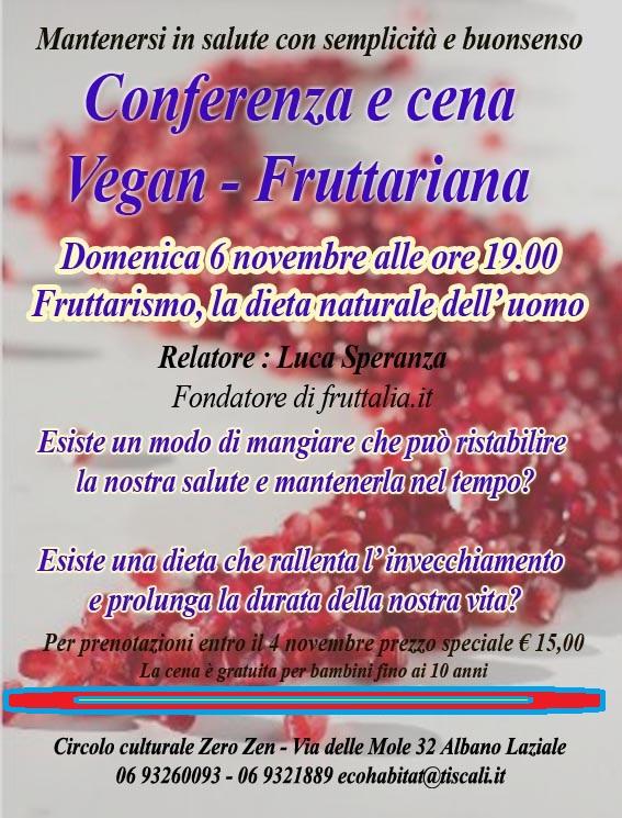 cena fruttariana Albano