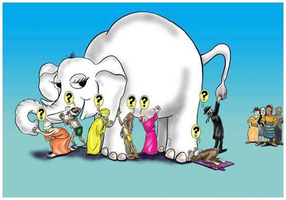 elefante e i sei ciechi
